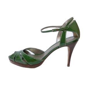 Ann Taylor Green Leather Millie Platform S…